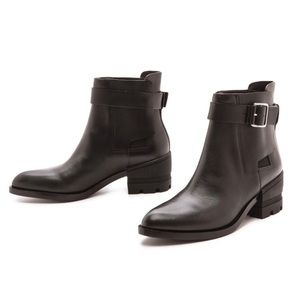 Alexander Wang Martine Moto Buckle Ankle Boot 38